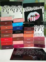 Wholesale Velvet Stockings - 40 Colors In Stock Kylie Jenner Liquid Lipstick Lipgloss SET Matte Lip liner Lip Gloss Lip Kit Cosmetics Lips Makeup Red Velvet Makeup