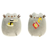 """Wholesale Plush Doll Cat - Hot New 2 Styles 6"""" 15CM Sushi Potato Chips Plush Doll Pusheen The Cat Anime Collectible Stuffed Dolls Best Gifts Soft Toys"""
