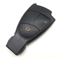 Wholesale Car Remote Control Case Replacement - 10pcs lot Replacement Car Key Cover for Mercedes Benz Car 2 3 4 Buttons Remote Control Smart Key Case Fob