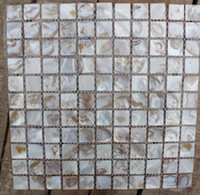 Wholesale Cheap freshwater Square Brown Mother of Pearl Shell Mosaic Tiles for Kitchen or bathroom backsplash