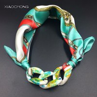 Wholesale Muffler Scarf For Men - Wholesale- women Scarf Acrylic color Pendant Scarves Pattern Printed Muffler new Scarf face towel for female 2017 spring Fashion