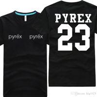 chemise pyrex homme achat en gros de-Mode été PYREX VISION 23 tshirt hommes tshirt hip hop tshirt streetwear t shirt 100% coton