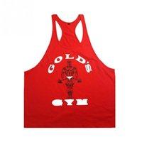 Wholesale Men S Tank Top Wholesale - Wholesale- Male Tops Men Singlets Tank Tops Shirt,Bodybuilding Equipment Fitness Men\'s Cotton Golds Stringer Tank Top