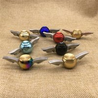 Wholesale Copper Fingers - New Hand Spinner Harry Potter Golden Snitch Fidget Spinner EDC Toys Copper+Stainless Steel Decompression Finger Gyro Toys CE Compliant