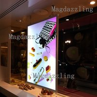 Wholesale Aluminum Snap Frames Wholesale - A1 Double Sided Aluminum Snap Frame LED Advertising Light Box,Ceiling Window Hanging Two Sides Light Box with Hanging Kits