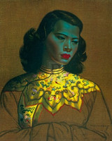 Wholesale framed oil painting girls - Framed Vladimir Tretchikoff CHINESE GIRL Yellow Jacket figurative PREMIUM QUALITY,genuine Pure Handpainted Art oil Painting Multi sizes P061