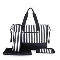 5er set handtaschen großhandel-Großhandels-Neue Ankunft 5PCS / Set große Kapazitäts-Frauen-Mama-ändernde Beutel-Baby-Windel-Taschen Reise-Gepäck-Handtasche