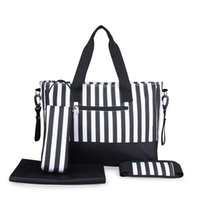 Wholesale mummy set for sale - New Arrival Set Large Capacity Women Mummy Changing Bag Baby Diaper Nappy Bags Travel Lage Handbag
