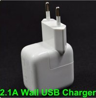Wholesale Mini Plug Usb Wall Charger - 2.1A USB Wall Charger EU plug for Apple iPad mini 2 3 4 AIR For Samsung Andorid Tablet Charger for xiaomi
