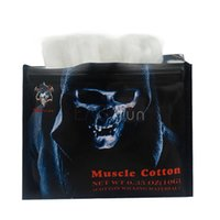 Wholesale E Cig Wicks Cotton - Hot Demon Killer Muscle Cotton E Cig Cotton Organic Cotton Wicking Material VS Koh Gen Do RDA Wicks Japanese Cotton Fabric Puff For RBA RDA