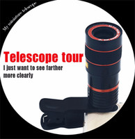 Wholesale phone telescopes for sale - Group buy Universal X Optical Zoom Mobile Phone Telescope Zoom Camera Lens Black And Red Color With Removable Clip