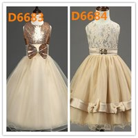 Ball Gown Wedding Dress for sale - Hot Sell 50 Designs Summer Girl Flower Tulle Wedding Dress Childs Princess Dresses Children Clothing Kids Lace Gauze Party Formal Dressy