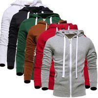 с капюшоном оптовых-Wholesale- 2016  Fashion Winter Men's Fleece Hoodies Men Jacket Tracksuits High-quality Lovers Men Korean Slim Fit Men Sweatshirt XXXL