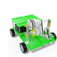 Wholesale Toy Car Belt - DIY Three speed belt car plastic puzzle Toy Technology Manual for Children Kids Educational toys F20773