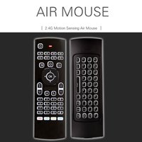 Wholesale Dual Axis - MX3 fly air mouse 2.4GHz wireless android tv boxes keyboards X8 air mouse remote 3d somatosensory IR learning 6 axis backlit keyboard