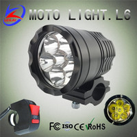 Wholesale Led Spot Motorcycle - Newest 60W 5000LM XML U2 Cree LED Work Light Spot Lamp Driving Fog 12V-60V Car 6x10W Motorcycle Boat ATV