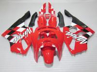 Wholesale Kawasaki 1997 Zx6r Plastics - Bodywork plastic Fairing kit for Kawasaki Ninja ZX6R 1994-1997 red black motorcycle fairings set zx6r 94 95 96 97 OT24