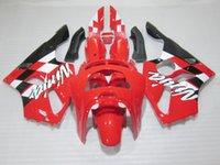 обтекатель zx6r 95 красный оптовых-Кузов пластиковый обтекатель комплект для Kawasaki Ninja ZX6R 1994-1997 красный черный мотоцикл обтекатели комплект zx6r 94 95 96 97 OT24