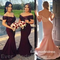 best plus size customized wedding dress - 2017 Cheap Plus Size Wine Red Mermaid Bridesmaid Dresses Hot Sale Zipper Strapless Long Wedding Party Dresses Sexy Evening gowns