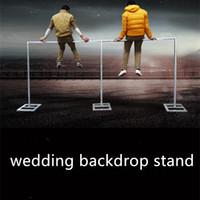 3m stand venda por atacado-3 M * 6 M Casamento Drapery Pipe Stand / Casamento Decor Piping quadro para drape / Stainess Aço Casamento Cenário Stand