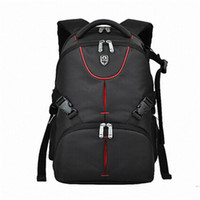 Wholesale Video Camera Laptop - Wholesale- 15.6 inches laptop backpack Waterproof Photo Digital DSLR Camera Bag Photography Camera Video Bag SLR Camera+Rain Cover