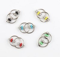 Wholesale Toys Factory Outlets - Factory direct sale outlet pressure relief toy Key Ring Fidget fingertips gyro Key Ring chain buckle