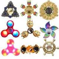 spiral crystal - IN STOCK Hand Fidget Spinner EDC Spinners Styles Avialable With Bluetooth Speaker Plastic Metal Copper Crystal Rainbow Spiral Toys