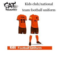 Wholesale Sporting Football Club - Football boys sets 2017 summer children clothing sets 2pcs short t-shirt,short pants kids boys sport football club team uniform