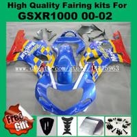 Wholesale Suzuki Gsxr Windscreen - Injection mold fairing kit for K1 K2 SUZUKI GSXR1000 2000 2001 2002 GSX-R1000 00 01 02 Fairings GSXR 1000 00-02 Bodywork windscreen screws