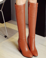 Wholesale roman sweets - Wholesale New Arrival Hot Sale Specials Super Fashion Influx Martin Warm Leather Sweet Girl Knight Pointed Party Knee Boots EU34-43