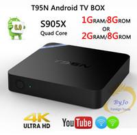Wholesale Memory 2g - T95N Mini M8S Pro Android 6.0 TV Box S905X Quad Core Wifi 1 2G 8G Memory Smart Set top Box