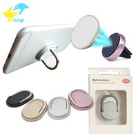 Wholesale Rings Holders - Metal Phone Cell Phone Ring Holder Cell with Stand Unique Fit For Magnetic Holder for Universal Cellphone with retail package