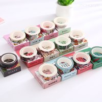 Оптовое 2016 24Style Creative Panda Cat Flower Leaves Girl Декоративный клей Washi Tape Diy Scrapbooking Masking Tape School Office S