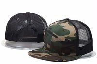 Wholesale Mens Mesh Hats - 2017 New Styles Blank mesh camo Snapback Hats camouflage hip hop mens women Casquettes bboy gorras bones baseball caps solid hat