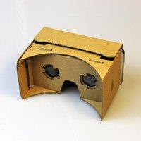экран виртуальной реальности оптовых-DIY Google картон виртуальной реальности VR мобильный телефон 3D очки для просмотра 5.0\