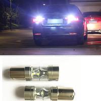 Wholesale Volkswagen Brakes - New BA15S 100W 850LM LED Reverse Lights 1156 1141 Auto Car Brake Bulbs P21W Parking Lamps 12V 1003 7506 Tail Light 360 degree