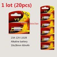 Wholesale 23a 12v alkaline battery resale online - 20pcs A V A12V V23A L1028 dry alkaline battery Volt Batteries card VSAI