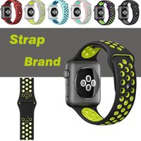 Wholesale Sport Silicone More Hole Loops Straps Bands Watchband For Apple Watch iWatch Series Strap Band mm Wrist Bracelet VS Fitbit Strap