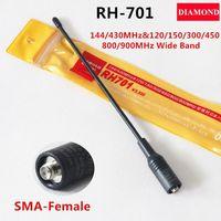 Wholesale Diamond Radio Antenna - Diamond RH701 SMA-Female Antenna RH-701 Wide band For two way radio Baofeng UV-5R UV-5RB Puxing PX-777 Wouxun KG-UVD1P TG-UV2