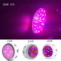 Wholesale Ufo Lights For Indoor Plants - 150W 216W 300W 360W UFO LED Grow Light Full Spectrum LED Plant Grow Lamp for Indoor Medical Plants Veg Flowering Hydroponics Systems