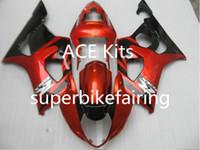 motocicletas gsxr plásticos venda por atacado-3 brindes novos Suzuki GSXR1000 K3 03 04 GSXR 1000 K3 2003 2004 Injeção ABS Plástico Motocicleta Carenagem O Cool Red preto Z