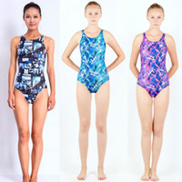 Wholesale Swimsuit One Piece Women Xxl - Swimwear Women Arena One Piece swimsuit Competitive Swimming One Piece Suits Racing Swimsuits Girls Bathing Suits Bodysuit Blue