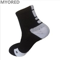 Wholesale Tube Socks Hot - HOT mens brand New Elite Basketball Socks short tube crew towel bottom Sport Socks Male Compression Sox Men's Soccer sports running Socks