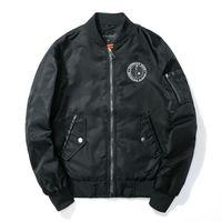 Wholesale Varsity Jacket Designs - Cool College Baseball Jacket Men 2017 Fashion Design Black Sleeve Mens Slim Fit Varsity Jacket Brand Homme XXXL