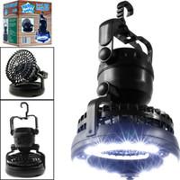 luzes redondas da árvore da bola venda por atacado-Lanterna de campismo portátil LED com ventilador de teto Ventilador de LED 2-IN-1 18 para pesca externa caminhadas e tenda de emergência