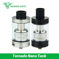 Wholesale Gold Tornado - IJOY Tornado Nano Chip Coil & RTA Tank Atomizer 4ml juice capacity Tank & 24K Gold Plated 510 & Delrin Drip Tip