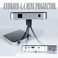 Atacado-S5 Pico Projeto Android 4.4 Built-in Battery Portátil Wifi Bluetooth Pocket Mini LED Telemóvel Home Theater Micro Projector