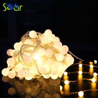 Großhandel-5M 40LED Warmweiß LED Batterie Weihnachtsbeleuchtung AA Batteriebetriebene Fee Ball Party Urlaub Girlande Blinkende Birne String Licht