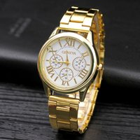 Wholesale Lady Watches Silver Gold - 2016 New Summer Wristwatches Luxury Fashion Design Ladies Watch Women Watches Gold Silver Band Female Gift Quartz Clock