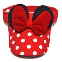 Wholesale Summer Bow Sun Hat - Fashion Mickey Children Empty Top Cap Baseball Cap Baby Hat Spring Summer Adjustable Sun Bow Girl Children Hats